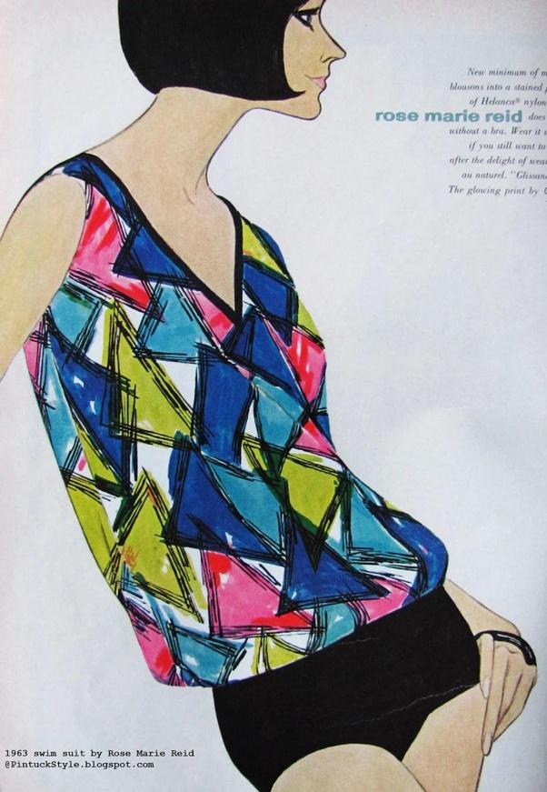 Rose Marie Reid Swimwear ad, 1963.
