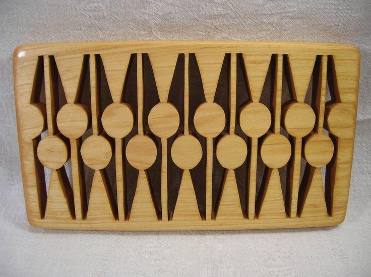 Contemporary Casserole Wooden Trivet T-1  #394 by BOARDSCROLLER on Etsy