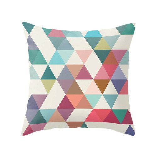 Mid century geometric pillow mid century cushion by LatteHome