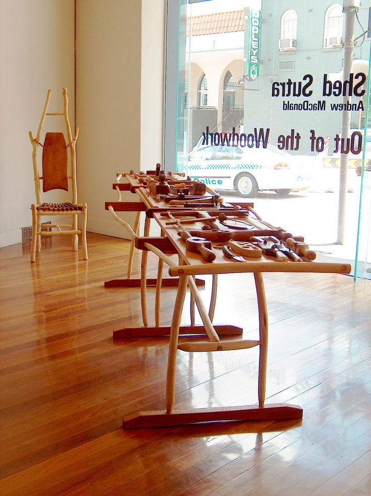 """""""Shed Sutra"""" solo exhibition at Artisan Gallery, Brisbane. Featuring hand made tools and furniture crafted using the tools."""