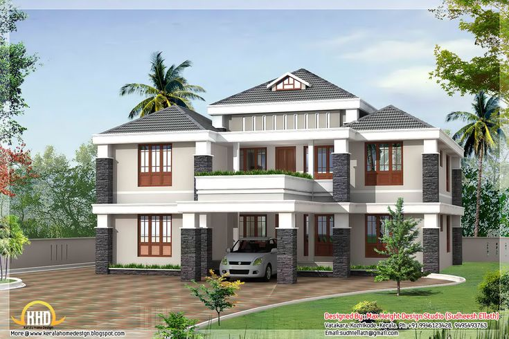 Love the colors trendy kerala house designed by max for Dream home kerala