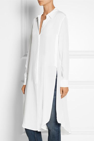 Equipment | Pascal washed-silk tunic | NET-A-PORTER.COM