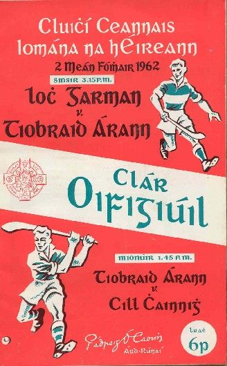 1962 All-Ireland Senior Hurling Final programme, Tipperary v Wexford