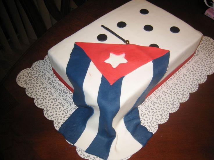 cuban cakes | CUBAN FLAG ON DOMINOE