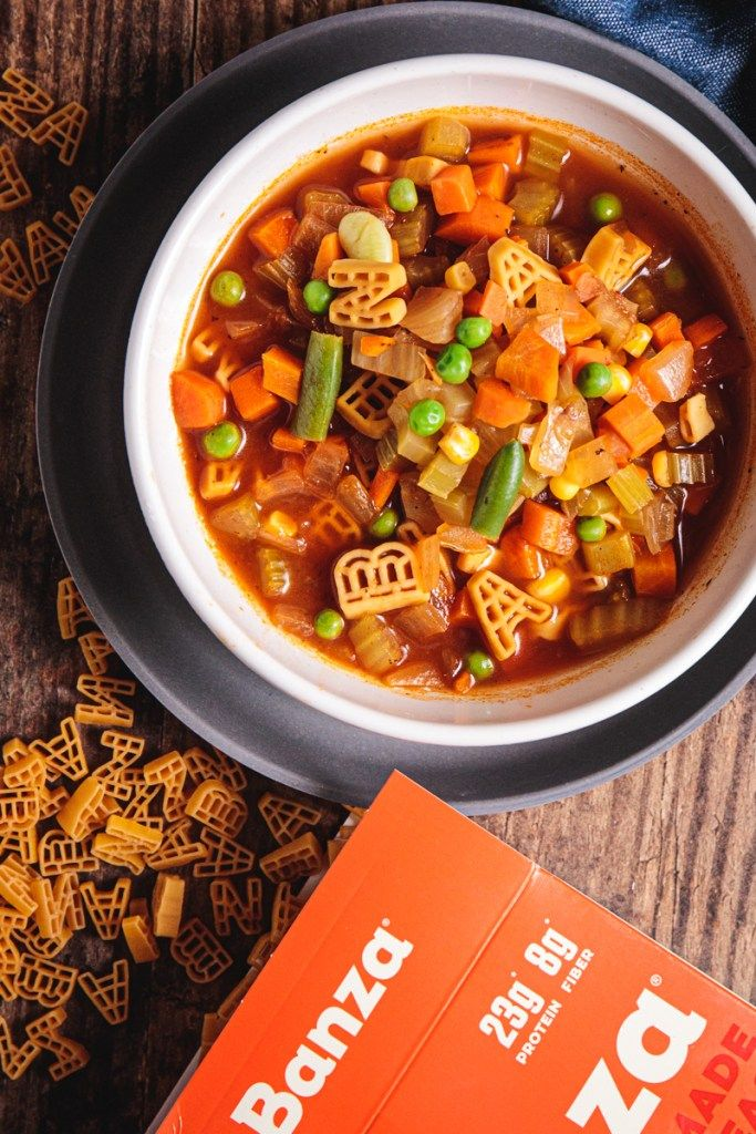 Easy Plant Based Chickpea Alphabet Vegetable Soup Recipe Vegetable Soup Healthy Whole Foods Vegan Vegetable Soup