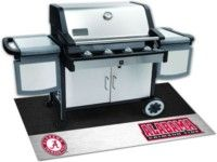Officially licensed University of Alabama Tailgating Gear in official team colors of crimson red and white with licensed sports team logo durable enough to last for many years on each of these Alabama Crimson Tide bbq accessories. Show your University of Alabama pride and support collegiate sports with authentic University of Alabama Crimson Tide bbq sets, grill & tailgating mats, face paint kits, tents, tables, and seats in a variety of patterns, styles, and colors.