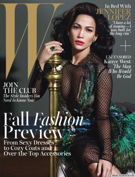 Jennifer Lopez On The Front Cover Of W Fashion Magazine