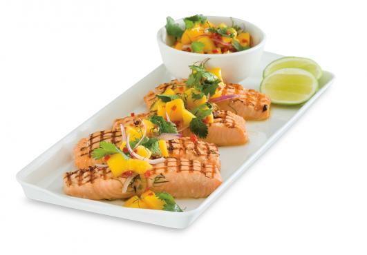 BBQ Salmon & Mango Salsa   Thomas Dux