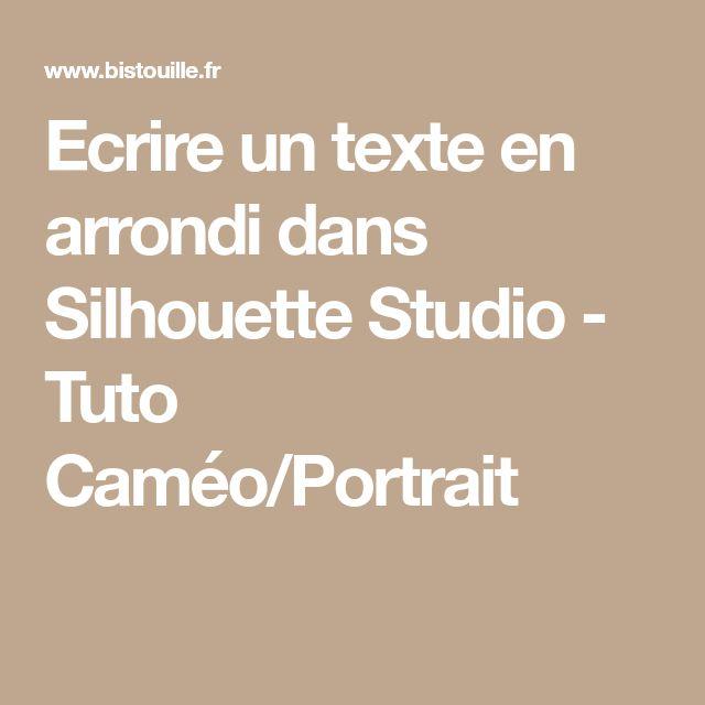 Ecrire un texte en arrondi dans Silhouette Studio - Tuto Caméo/Portrait