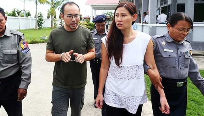 Myanmar to free Msian Spore journalists held since October   Police say senior officials ordered the case dropped because the 2 foreigners and 2 locals did not mean to endanger national security by flying a drone.  YANGON: Myanmar police said on Tuesday they would drop pending charges against two journalists working for Turkeys state broadcaster their interpreter and driver who were jailed in November for violating an aircraft law by filming with a drone.  Cameraman Lau Hon Meng from…