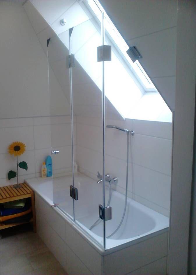 Duschwand Dachschräge Duschwand, Dusche, Duschabtrennung