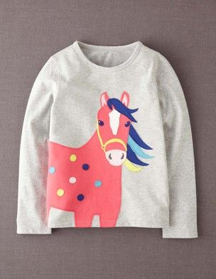 I've spotted this @BodenClothing Big Appliqué T-shirt Grey Marl Horse