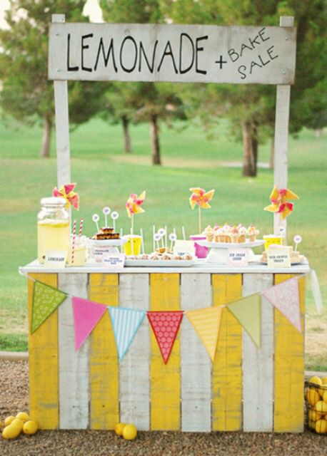 Love this! Could be a lemonade stand