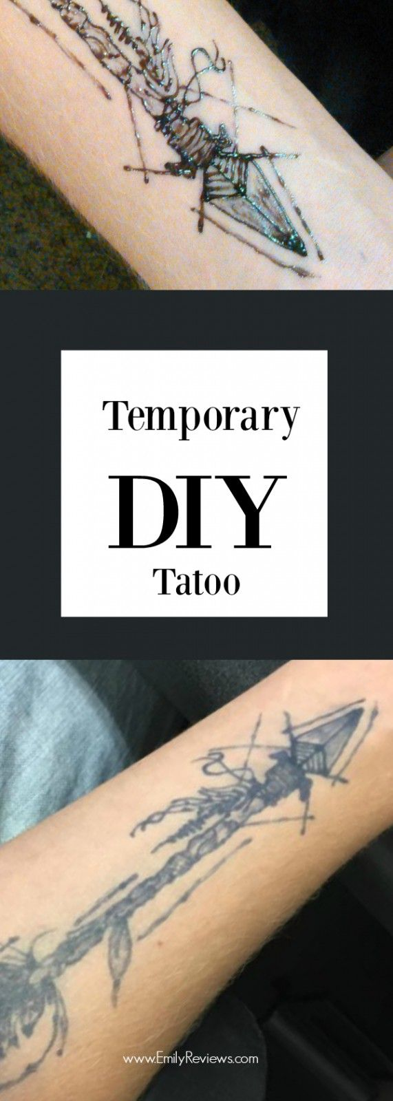 DIY TEMPORARY TATTOO using jagua NOT black henna. Beautiful way to experiment with body modification in a temporary way.