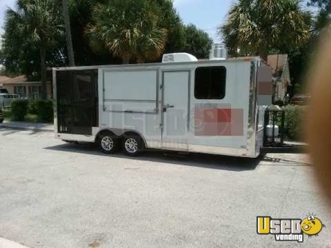 For Sale Used 2014 Freedom Concession Trailer With BBQ Smoker Porch In  Florida | Mobile Kitchen