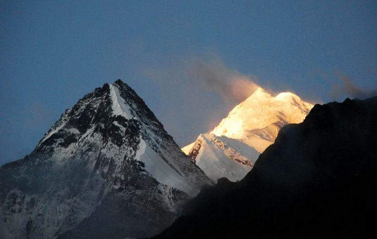 Annapurna II summit during sunrise!  Wow!