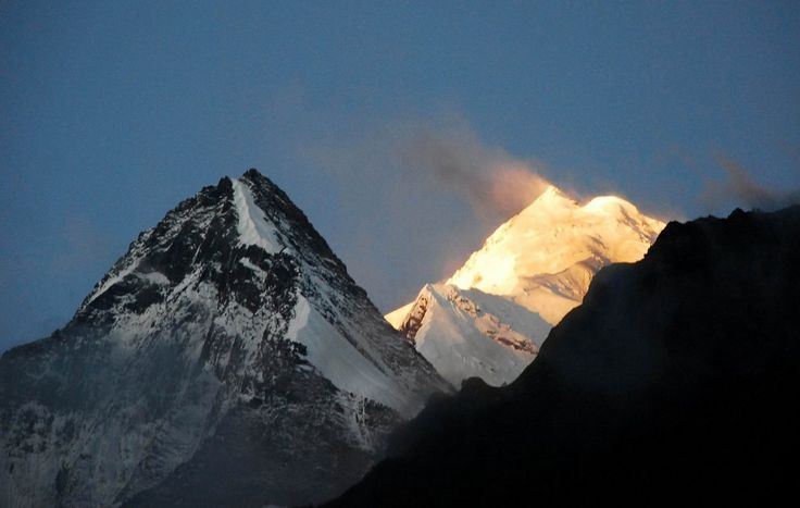 Annapurna II summit during sunrise!  Wow!