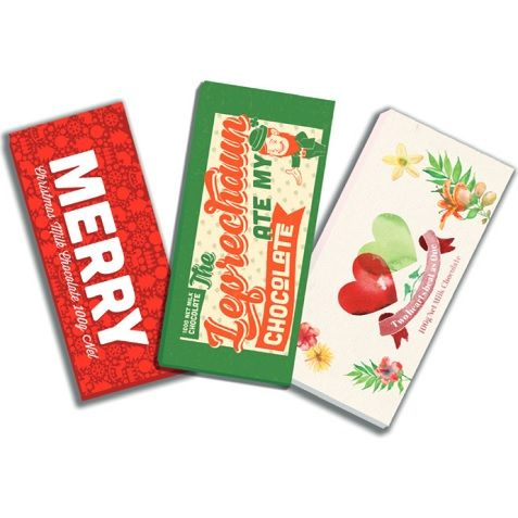 Chocolate Bars printed by esmark finch for Bloomsberry & Co
