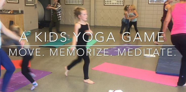 Move, Memorize, Meditate: Kids Yoga Game - everybody loves this game, gets kids listening, moving, working together and finding calm - so much fun for kids of all ages