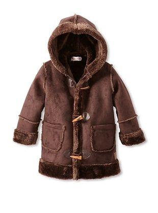 60% OFF Hippototamus Boy's Faux Shearling Toggle Coat (Chocolate)
