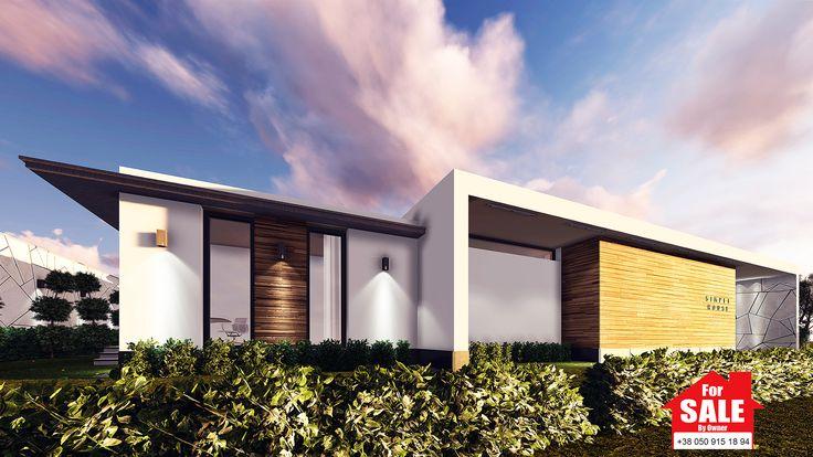 Особенностью данного проекта частного дома является эксплуатируемая крыша. Через отдельный вход, устроенный во вспомогательном объеме жилого дома, можно попасть на крышу – обзорную, панорамную площадку. На эксплуатируемой крыше можно загорать, играть в игры, и просто наслаждаться закатами.  Коттедж  Simple House состоит из двух объемов: основной – сам дом, где размещены спальня, гостиная, детские и так далее; и вспомогательный– здесь располагается топочная и выход на крышу.