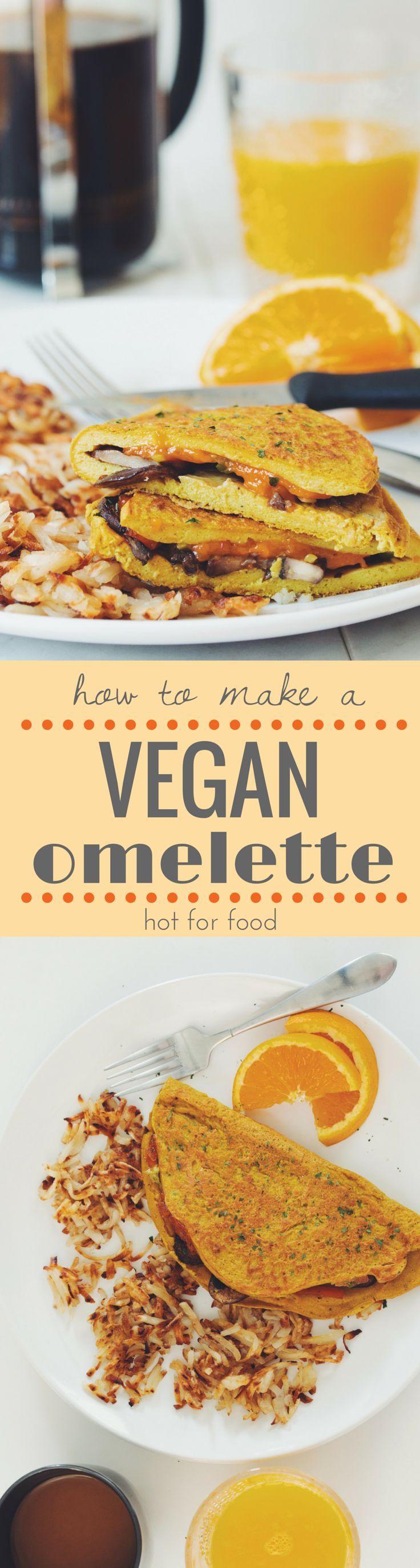 how to make a vegan omelette | RECIPE on http://hotforfoodblog.com