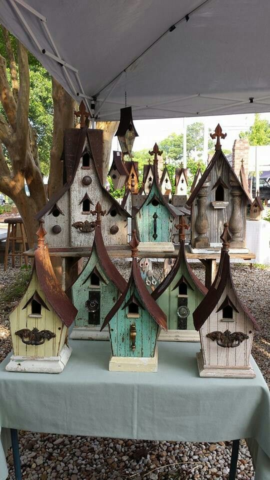 History, through birdhouses... find these and more on facebook and etsy at Recycling is for the Birds