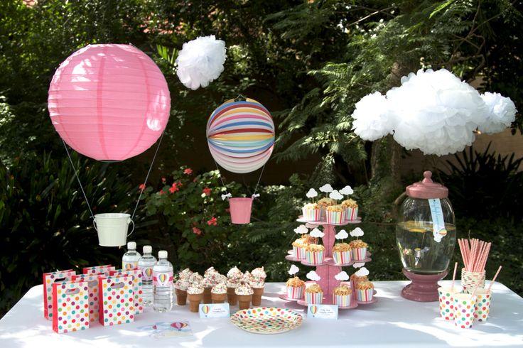 Girl themed Hot Air Balloon table.