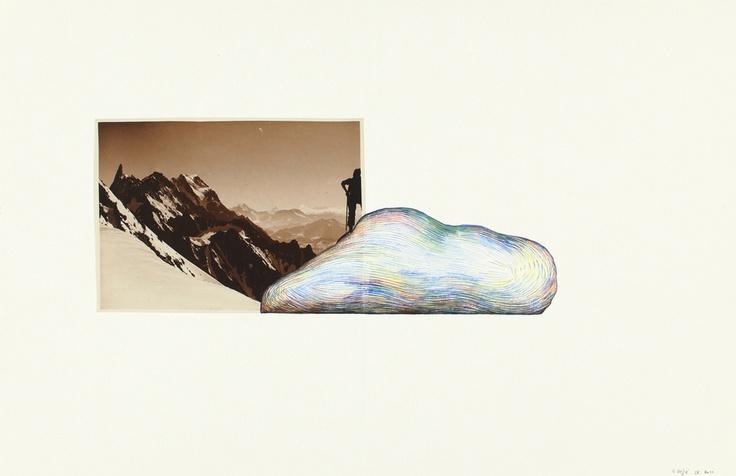 Guillaume Dégé / Sans titre / 2010 / 19 x 30 cm / collage et aquarelle sur papier