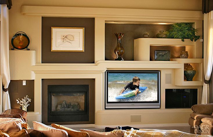 Custom Home Media Wall Design Portfolio – DAGR Design | DAGR Design
