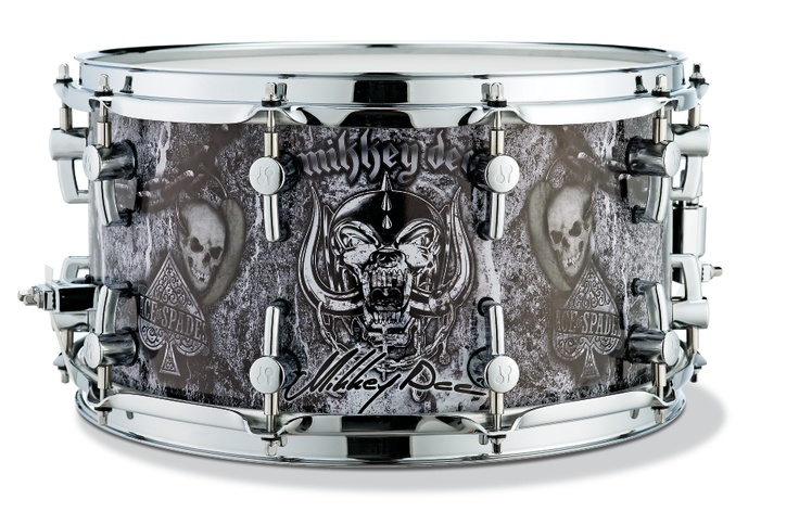 """Signature Series 14"""" x 7.25"""" Mikkey Dee Snare Drum. I want it!"""