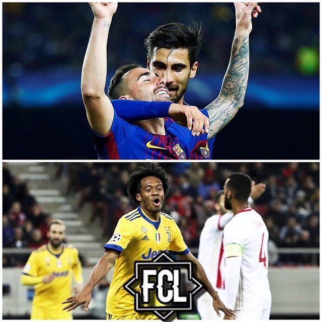 Reposting @volcanbaymeme: 🏆 CHAMPIONS LEAGUE 🏆 ✨GRUPO D✨ - 📝FC BARCELONA 2-0 SPORTING📝 - ⚽️GOLES⚽️ •Paco Alcácer / 59' (FCB) •Mathieu/ 91' (AG) (FCB) - ❗INCIDENCIAS❗ •Alan Ruiz / T. amarilla / 30' (SPO) •Nélson Semedo / T. amarilla / 35' (FCB) -------------------------------------------- 📝OLYMPIACOS 0-2 JUVENTUS📝 - ⚽GOLES⚽ •Cuadrado / 15' (JUV) •Bernardeschi / 89' (JUV) - ❗INCIDENCIAS❗ •Leonardo Koutris / T. amarilla / 32' (OLY) •Uros Djurddjevic / T. amarilla / 43' (OLY) •Medhi…