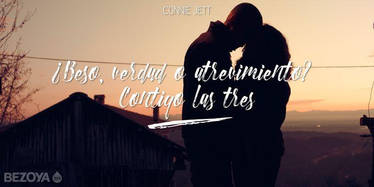 ¿Beso, verdad o atrevimiento? Contigo las tres. #ConnieJett #bezoya, amor, romántico, frases románticas, frases de amor, enamórate, enamorados, beso, pareja, sunset