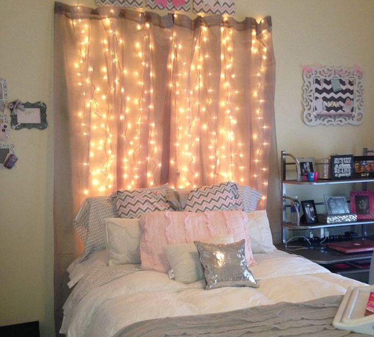 best 25 curtain lights ideas on pinterest college. Black Bedroom Furniture Sets. Home Design Ideas