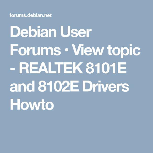 DRIVERS: REALTEK 8101E