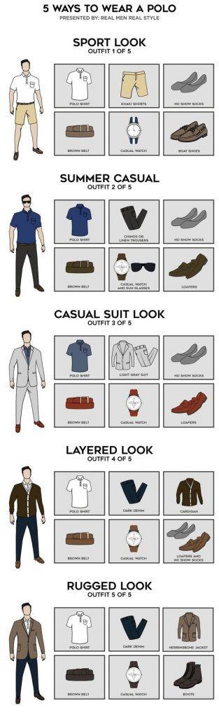 5 way to wear a polo