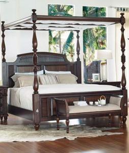 Tamarind Grove Traditional Canopy Banyon King Bed, Twilight Roast