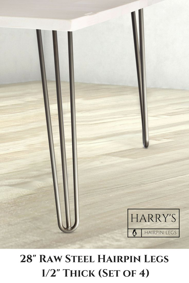 Our Original 28 Inch 3 Rod Hairpin Leg Is A Modern Clic That Helps Bring Sleek And Clean Look To Any Diy Table Dining Room Desk