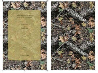 Awesome Mossy Oak Camo Wedding Invitations Pictures - Styles ...