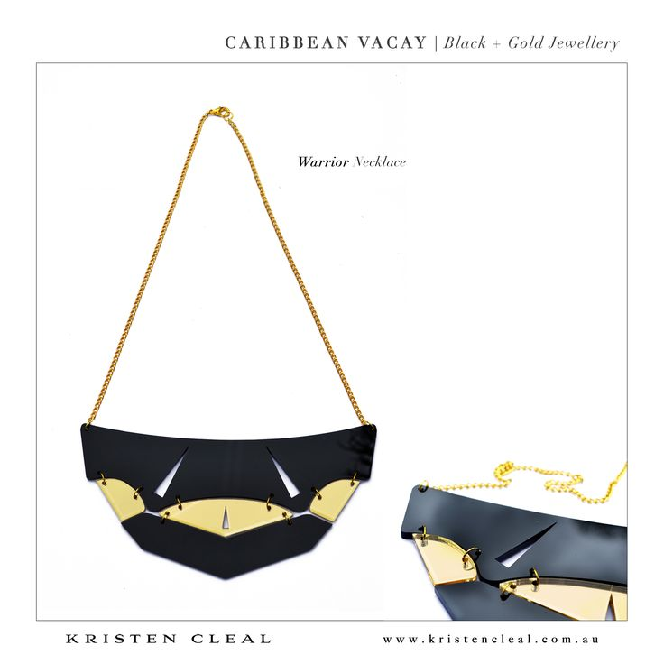 Gladiator Necklace by Kristen Cleal Designs  Caribbean Vacay 2014 Collection