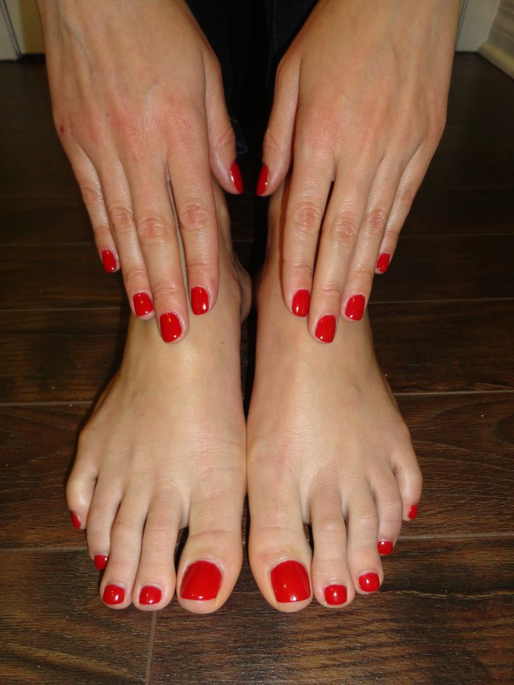 Red Shellac Nails & Toes