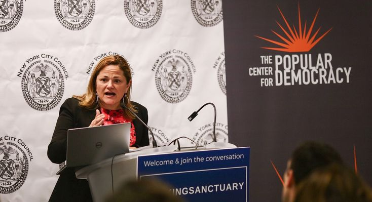 New York City Council Speaker Melissa Mark-Viverito and dozens of legislators from around the country are dismissing the Trump administration's threat to cut millions of dollars in federal funding from sanctuary cities as an illegal maneuver to bully cities into enforcing immigration law, even as Attorney General Jeff Sessions aired that threat Monday from the White House.