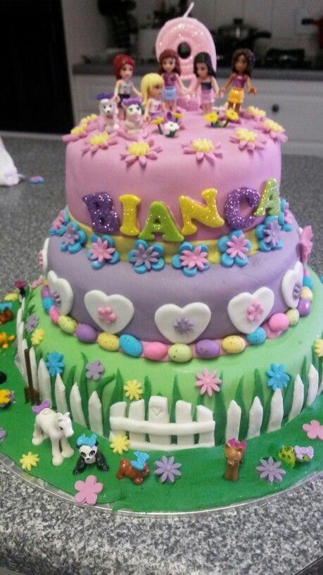 Lego friends Birtday Cake