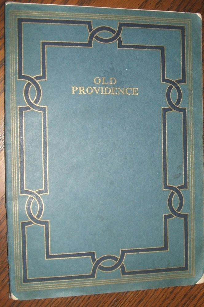 1918 Old Providence A Collection of Facts &Traditions Merchants Bank Centenary