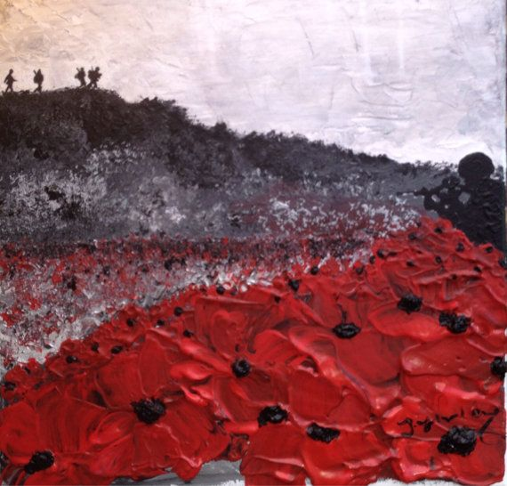 War Poppy Remembrance Soldier Original by PortOutStarboardHome