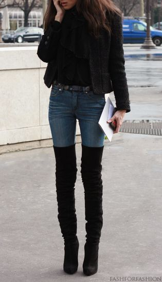Thigh high boots! not usualy a fan of high heal boots but i like this wear them in every day or to a dancing gig