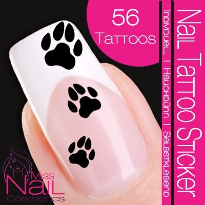 Nail Tattoo Sticker Paws - blackNails Tattoo, Nails Art, Nailart, Art Tattoo, Tattoo Stickers, Owls Nails, Hibiscus Flower, Pink Rose, Black Beautiful