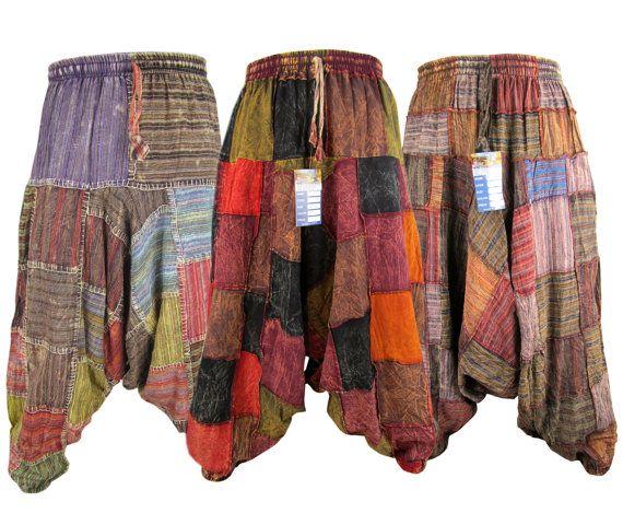 Patchwork harem trosuers Uno dei nostri articoli molto popolari: pantaloni patchwork. Essi sono disponibili in 3 varianti-uno in tessuto spesso e gli