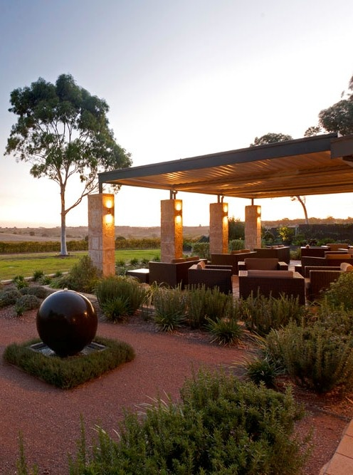 Appellation back terrace overlooking the vines of the Barossa