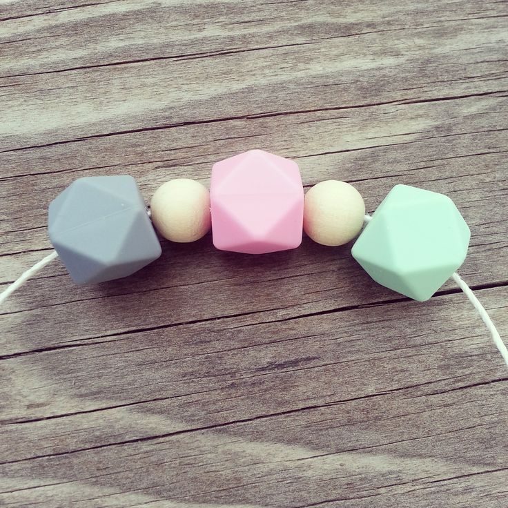 DIY teething beads for nursing & babywearing necklaces!